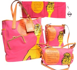 Coach Bonnie Cashin Kisslock Crossbody Tote in Pink/Orange