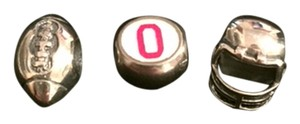 Carlo Biagi Unique Hand Painted Ohio State and sterling silver charms
