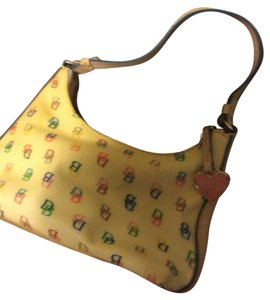 Dooney & Bourke Tote in cream with multi colored monograms