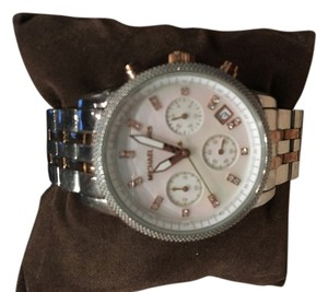 Michael Kors Michael Kors Silver and Rose Gold Watch