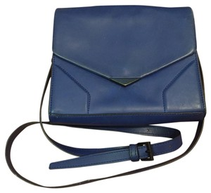 Pour La Victoire Cobalt Blue Leather Cross Body Bag