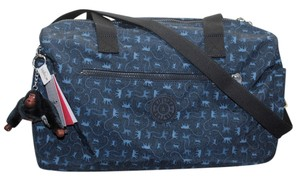 Kipling Zaliki Weekender Gym Travel Monkey Mania Blue Travel Bag