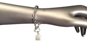 Other Sterling silver 925 chain link w/ square charm toggle 7.5