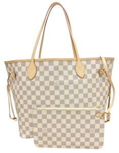 Louis Vuitton Lv Brand New Damier Azur W/p Mm Shoulder Bag