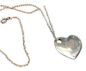 Tiffany & Co. Tiffany & Co Sterling Silver Heart Necklace 16
