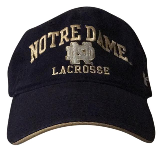 Item - Navy Blue with Gold and White Decals Notre Dame Lacrosse Hat