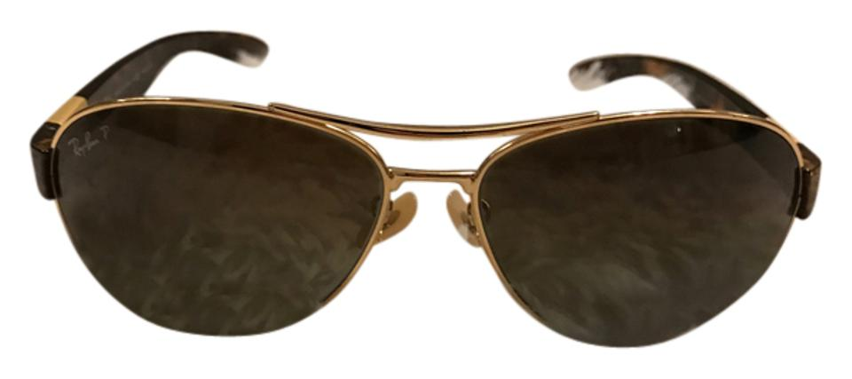 6f79bc753a ... free shipping ray ban rb3509 001 13 63 15 gold tortoise polarized brown  gradient bb9de 18e7c