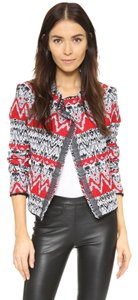 IRO Rag & Bone Isabel Marant Haute Hippie Tory Burch Dvf Red Jacket