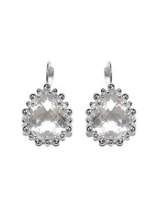 Anzie Anzie Dew Drop Pear Drop Earrings - Clear Topaz & Silver