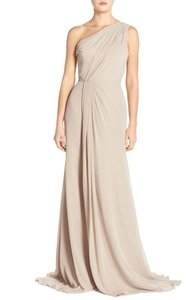 Monique Lhuillier Mink Onique Lhuillier Bridesmaids One-shoulder Chiffon #5096514 Dress