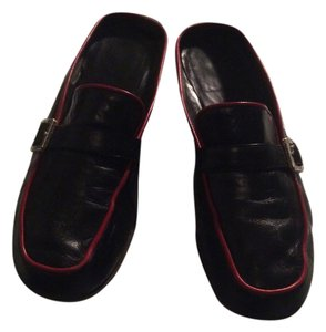 Brighton Black red trim Mules