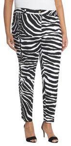 Michael Kors Zebra Cropped Ankle Animal Print Bold Capri/Cropped Pants Zebra Print