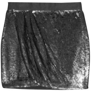 Haute Hippie Mini Skirt Hematite
