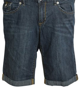 Banana Republic Cuffed Shorts Dark Blue