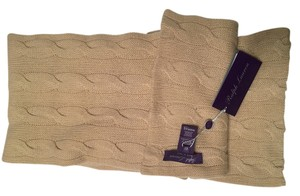 Ralph Lauren Collection Ralph Lauren Purple Label Womens Tan Brown Scarf Os Cashmere Casual