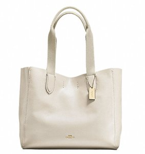 Coach Leather F58660 Tote in Chalk