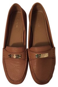 Coach Leather Gold Hardware Classic Preppy Ginger Flats