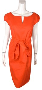Milly of New York Linen Belted Dress