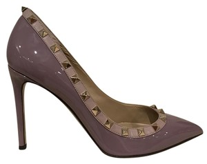 Valentino Rockstud Studded Patent purple Pumps