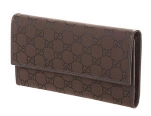 Gucci Brown leather Guccissima monogram Gucci continental wallet