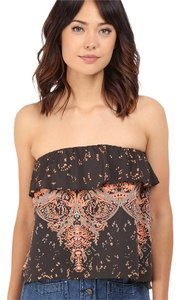 Free People Top black with prints
