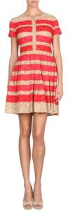 Ark & Co. short dress Red and Tan on Tradesy