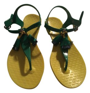 Juicy Couture Yellow/ green Sandals