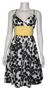 Max Studio short dress Black, White, Yellow on Tradesy