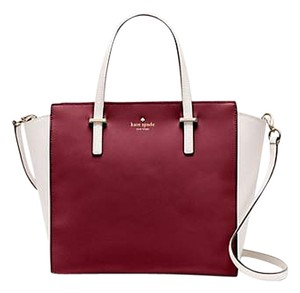 Kate Spade Crossbody Satchel in red wine