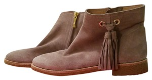 Kate Spade Suede Tassles Stone Boots