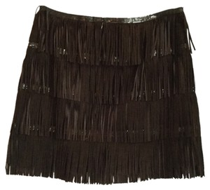 Haute Hippie Mini Skirt Brown