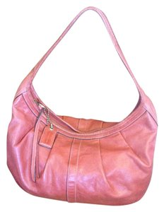 Coach Extra Large Pleated Leather Hobo Bag