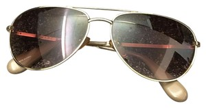 Marc Jacobs Marc by Marc Jacobs MMJ003/S Aviator Sunglasses Gold Frames Brown Lens