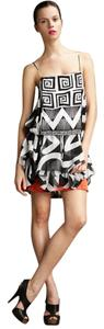 Diane von Furstenberg Geo Tribal Black And White Dvf Dress