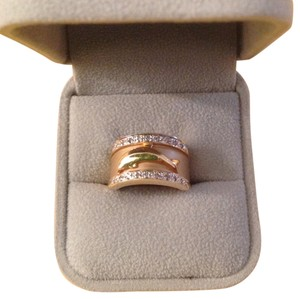 Other Vintage 14kt. Gold Ring with .15 ctw. pave diamonds