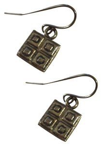 NEW Handmade Little Silver SQUARES Square Dangle EARRINGS Buy3Get1FREE Sale!