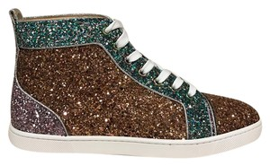 Christian Louboutin Bipbip Orlato Glitter Lace Trainer pink Athletic