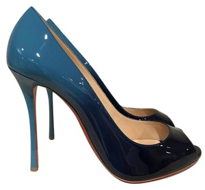 Christian Louboutin Yootish Peep Toe Patent Ombre Stiletto blue Pumps