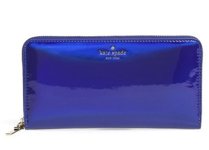 Kate Spade Kate Spade Rainer Lane Nightlife Blue Iridescent Lacey Wallet Pwru5197