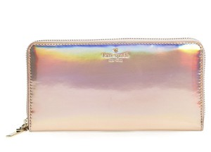 Kate Spade Kate Spade Rainer Lane Rose Gold Iridescent Lacey Wallet Pwru5197