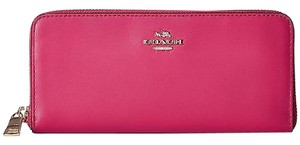 Coach Coach 53707 Cerise Smooth Leather Zip Around Wallet
