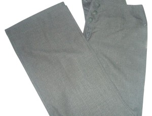 Hillard & Hanson Trouser Pants Gray Striped