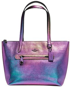 Coach Irredescent Taylor Tote In Hologram