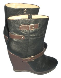 Nine West Black with brown trim Boots
