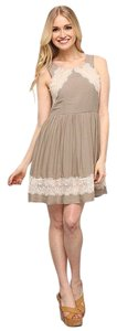 Free People short dress Tea Eyelash Lace on Tradesy