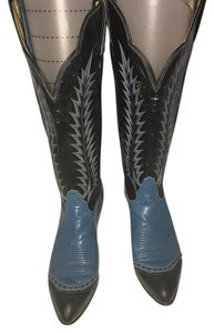 Women Tony Lama Boot blue and black Boots