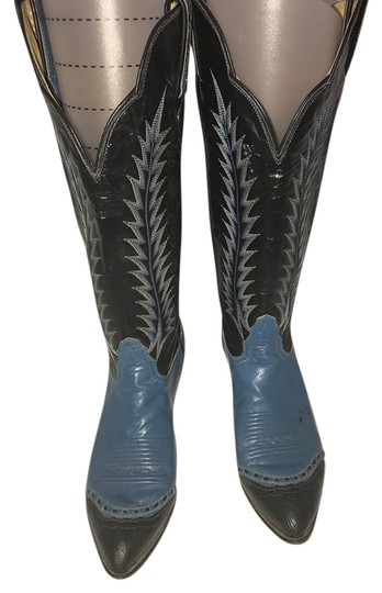 Preload https://item1.tradesy.com/images/blue-and-black-bootsbooties-size-us-6-regular-m-b-20399515-0-1.jpg?width=440&height=440