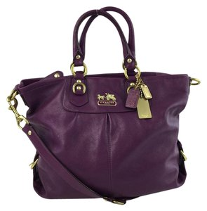 Coach Goldtone Tote in Purple