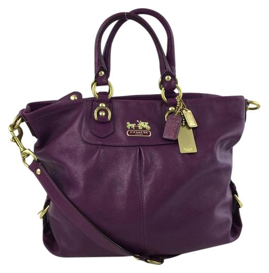 Preload https://item3.tradesy.com/images/coach-oversized-satchel-purple-leather-tote-2039957-0-2.jpg?width=440&height=440