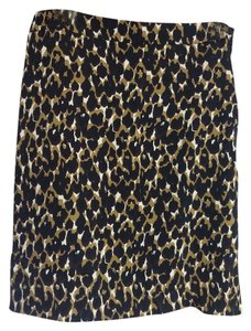 Ann Taylor Mini Skirt black/brn